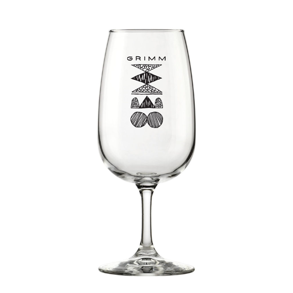 GRIMM LOGO GLASS